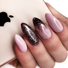 Best Nail Art Designs – 52 Nail Art Designs – Hashtag Nail Art - Rosa Pink Nails - Best Nail World Nail Color Trends, Nail Colors, Nail Art Rosa, Winter Nails Colors 2019, Nagel Stamping, Almond Nail Art, Best Nail Art Designs, Awesome Designs, Manicure E Pedicure