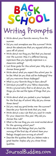 15 Writing Prompts for the Back-to-School Season