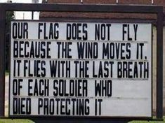 Our USA Flag - God Bless America & every soldier who has fought to protect us & our freedoms! Thank You to all our Military -- Both Past & Present. Fallen Heroes, Way Of Life, The Life, Real Life, Be My Hero, Real Hero, Military Love, Military Quotes, Military Honors