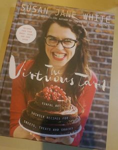 The Virtuous Tart: Sinful but Saintly Recipes for Sweets, Treats, and Snacks by Susan Jane White is a fun title that eliminates gluten, dairy and. Donut Recipes, Tart Recipes, Sweets Recipes, Desserts, Healthy Donuts, Healthy Treats, Victoria Sponge, Thing 1, Something Sweet