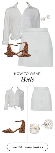 """Untitled #1110"" by cmmxo on Polyvore featuring Charlotte Russe, Topshop and Kate Spade"