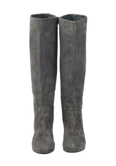 Long Suede Boot in Grey from hush