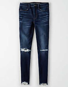 AE Ne (X) t Level Super Jegging mit hoher Taille Heels Outfits, Jean Outfits, Cool Outfits, Navy Pants, Jeans Pants, Ae Jeans, Ripped Jeans, Skinny Jeans, Womens Tactical Pants