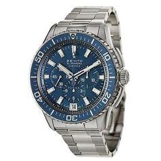 Zenith El Primero Stratos Flyback Men's Automatic Watch 03-2067-405-51-M2060