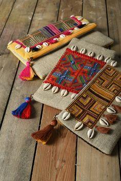 Vivimos Women's Vintage Floral Print Beach Boho Cardigan Kimono Maxi Swimwear Cover up Dress Wrap Beauty bag embroidery tribal boho bag linen inches Boho Clutch, Foldover Clutch, Embroidery Bags, Etsy Embroidery, Mode Boho, Boho Bags, Jute Bags, Linen Bag, Fabric Jewelry