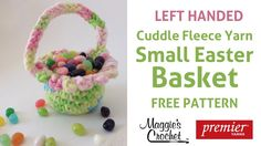 Small Easter Basket Free Crochet Pattern - Right Handed. Check out our Easter Free Crochet Pattern Playlist for more fast and fun projects: . Easter Crochet, Cute Crochet, Crochet Yarn, Beginner Crochet Projects, Crochet Patterns For Beginners, Crochet Tutorials, Left Handed Crochet, Popular Crochet, Crochet Videos