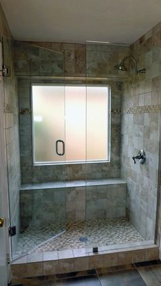 tile-bathroom-design-with-glass-shower-door-and-tub-to-shower-conversion-ideas-also-rain-shower-and-shower-kit-plus-frosted-glass-window.jpg (558×990)