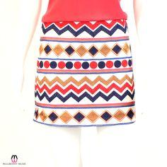 THML Ivory Multi Embroidered Mini Skirt