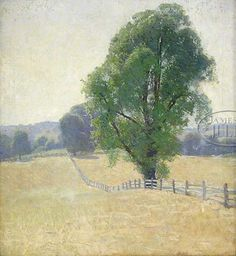 Fence Line, c.1925 Emil Carlsen [1848-1932] Oil on canvas 26 x 24 inches Signed: Unsigned. Archives of American Art #: -none- Provenance: 2010 James D Julia, Inc., PO Box 830, 203 Skowhegan Road, F…