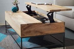 The Best Items For Apartments With NO Closets #refinery29  http://www.refinery29.com/no-closet-storage-systems#slide-5  We love a good, multi-functional piece of furniture. This coffee table is a great solution for storing socks or undies. West Elm Industrial Storage Coffee Table, $699, available at West Elm.</...