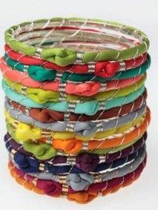 silk turban bracelets from Nina Loren