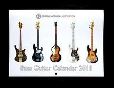 George Morgan Illustration Bass Guitar Calendar 2018