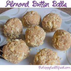 Almond Butter Balls ~ www.thehappyhealthfreak.com