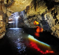 Smoo Cave, Durness - (explore your biking wanderlust on www.motorcyclescotland.com) What A Wonderful World, North West, Biking, Wonders Of The World, Cave, Scotland, Waterfall, Wanderlust, Explore