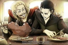 Thor-Loki: Sometimes I think I'm adopted by *Kibbitzer on deviantART