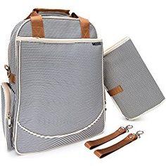O'beanie Baby Backpack Diaper Bag | Designer Fashion | Unisex Nautical Navy & Cream Stripe