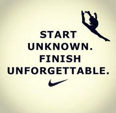 Gymnastics, Nike, quote