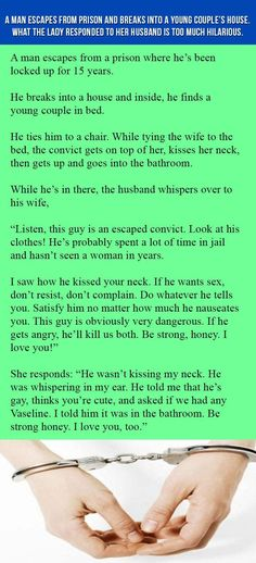 A Man Escapes From Prison And Breaks Into A Young Couple's House. What The Lady…