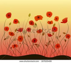 Stock Images similar to ID 131156750 - poppy flowers watercolor...