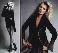 Kate Moss is the most versatile model of all time. This girl can pull off any style in any decade with any haircolor.