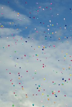 Releasing balloons every year on Ellie's birthday. Eventually we will write her wish down and put it in a balloon. Yay!