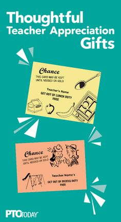 Help teachers with the gift of time! Cover at lunch or recess duty..Use these free passes as gifts!