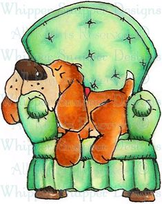 [Relax to the Max - Dogs - Animals - Rubber Stamps - Shop]     bet you were sure glad to get home to your chair