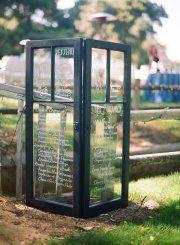 great way to display a menu at a wedding or a seating chart...