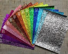 Sample Size Chunky Glitter Faux Leather Sheets, Glitter Canvas, 8 x inches, Bows Making, Earr Making Hair Bows, Diy Hair Bows, Diy Bow, Bow Making, Glitter Canvas, Glitter Fabric, Glitter Vinyl, How To Make Glitter, How To Make Bows