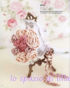 Bouquets di fiori all'uncinetto con schemi / bouquets of crochet flowers with charts
