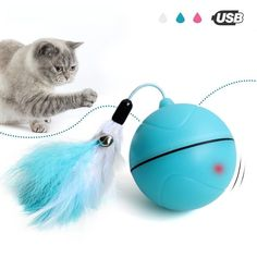 Yooap Creative Cat Toys Interactive Automatic  rolling ball As Seen on TV