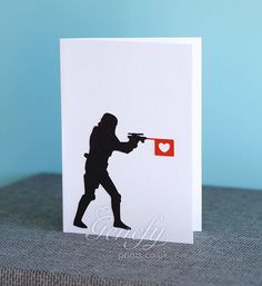 Star Wars Stormtrooper Silhouette Card perfect for birthdays, anniversaries, party invitations www.genefyprints.co.uk