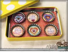 How to make Bottle Cap Magnets Video Tutorial  http://www.bcicrafts.com/Bottle-Cap-Magnets_b_4.html Bottle Cap Magnets, Bottle Cap Crafts, Bottle Caps, Arts And Crafts, Diy Crafts, Craft Party, Crafty, Camping Crafts, Creative