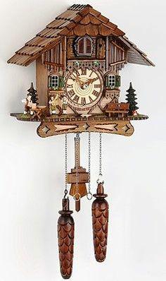 * Schwarzwälder Quarz Kuckucksuhr - Black Forest cuckoo clocks TYP 451 Q HZZG