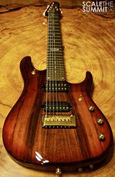 Travis LeVrier's Ernie Ball 7 string #guitar #scalethesummit