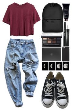 """///"" by gabriellenatasha ❤ liked on Polyvore featuring Dolce&Gabbana, Levi's, Madewell, Converse, Rains, Incase, Case-Mate, NARS Cosmetics and Yves Saint Laurent"