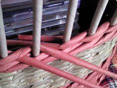 """как плести """"верёвочку"""", чтобы плетение шло не по спирали, а """"слоями"""" или """"рядами"""" и не были видны переходы в рядах."""