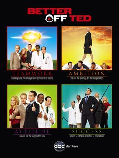 Better Off Ted (TV) Poster x 17 Inches - x Style B -(Jay Harrington)(Portia de Movies Showing, Movies And Tv Shows, Hd Movies, Movie Tv, Better Off Ted, Suggestion Box, Portia De Rossi, Star Show