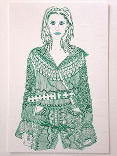 """""""Verde"""" - """"Dibujos Alternativos"""" Trabajos únicos y originales - Firmados ValBD.- Instagram @valeriabalmacedad_arts"""