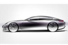 Porsche kündigt den neuen Panamera mit einer ersten offiziellen Grafik an. Die zweite Generation kommt mit einem neuem V8-Biturbomotor!