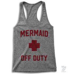 Just a mermaid off duty!