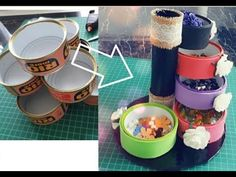 DIYs-Awesome Craft Ideas With Tin Cans /Recycle/Do it yourself/Mach es selbst! - YouTube Diy Craft Projects, Fun Crafts, Projects To Try, Craft Ideas, Recycled Tin Cans, Dollar Tree Crafts, Hello Everyone, Diys, Recycling