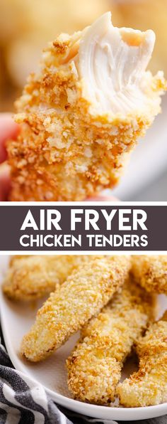 Air Fryer Chicken Strips are a quick and easy recipe made with a light Panko breading and tender and juicy chicken breasts. This kid friendly meal is sure to be a family favorite! #AirFryerChicken #AirFryerRecipe #ChickenStrips Air Fryer Recipes Chicken Tenders, Chicken Tender Recipes, Healthy Chicken Recipes, Low Carb Recipes, Cooking Recipes, Yogurt Bread, Brown Sauce, Chicken Strips, Yum Yum Chicken
