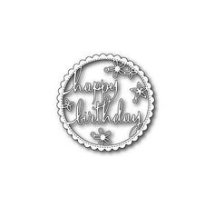 POPPY STAMPS: Happy Birthday Floral Frame Die