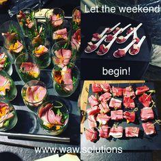 Let the weekend begin! www.waw.solutions #zeepboerkeonlineiswaw #uwconsulentindetergent #yoursolutioniswaw #webshop #horecamaterialen #weekend #apero #food