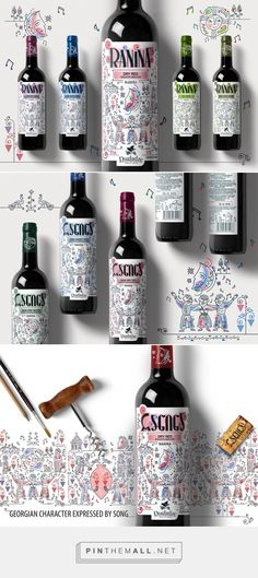 #wine #package #design #colorful #illustrated #nice