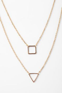 Geo High/Low Necklace Online Only