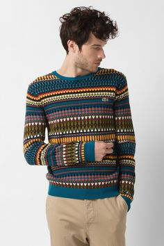 of course this would be out of stock! Lacoste L!VE Aztec Pattern Sweater