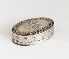 Vintage French Solid Silver Pill Box Snuff by TheGentlemansBlade