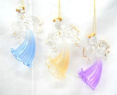 So lovely are these Hand Blown Glass Angels, can you imagine them on your tree this year?  $21.99